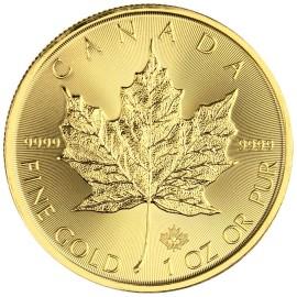 Liść Klonowy 1 oz. 50 dolarów kanadyjskich - Złota moneta bulionowa Maple Leaf 2020