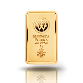 Sztabka złota - Sztabka Au 2g